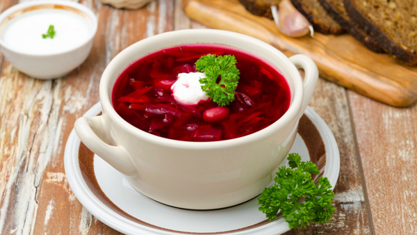 борщ украинский рецепт с фасолью